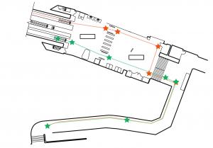 Mapa de la estación Pimlico